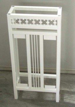 Cubreradiadores de hierro pintado en blanco